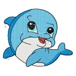 Clipart Cute Baby Dolphins.