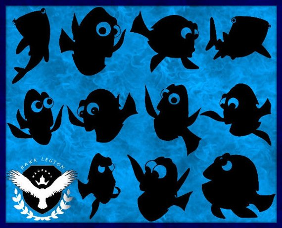 Dory clipart silhouette, Dory silhouette Transparent FREE.