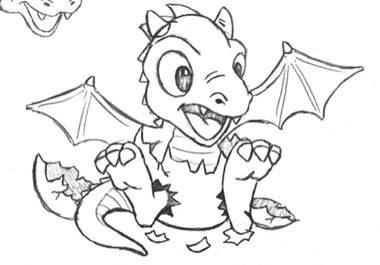 baby dragon drawing.