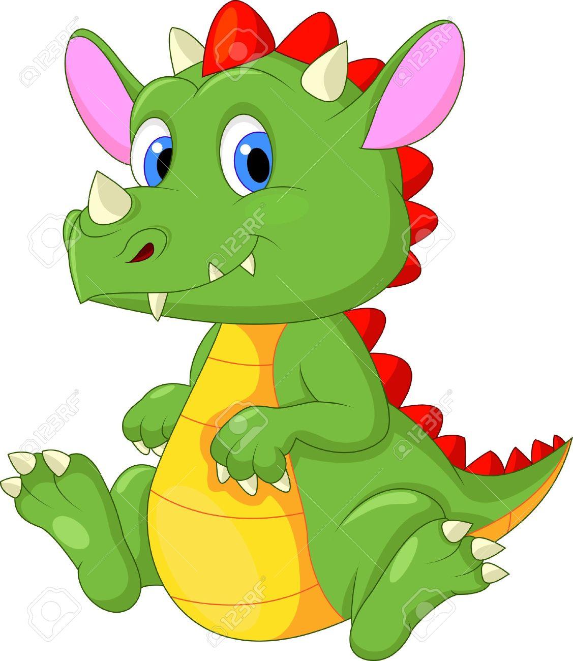 Cute Baby Dragon Clipart.