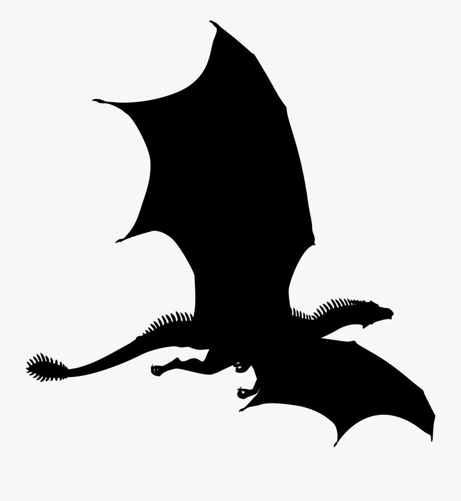 Dragon Silhouette Clip Art.