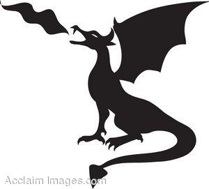 Dragon Clipart Silhouette.