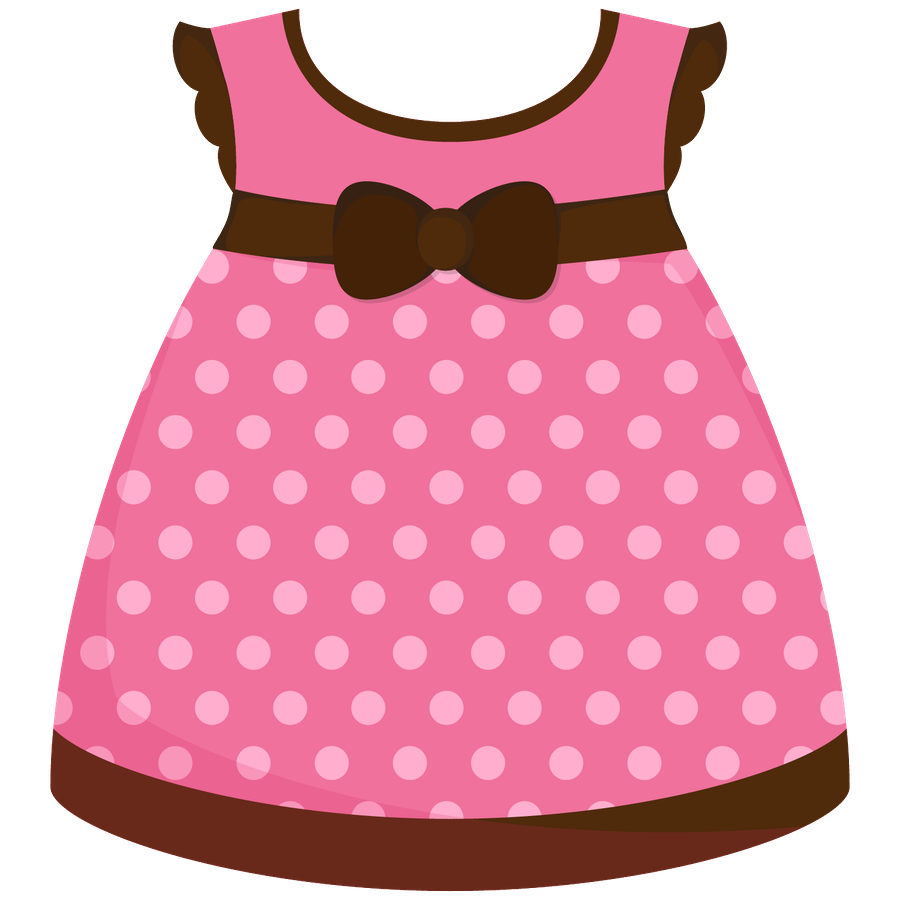 Baby Girl Dress Clipart.