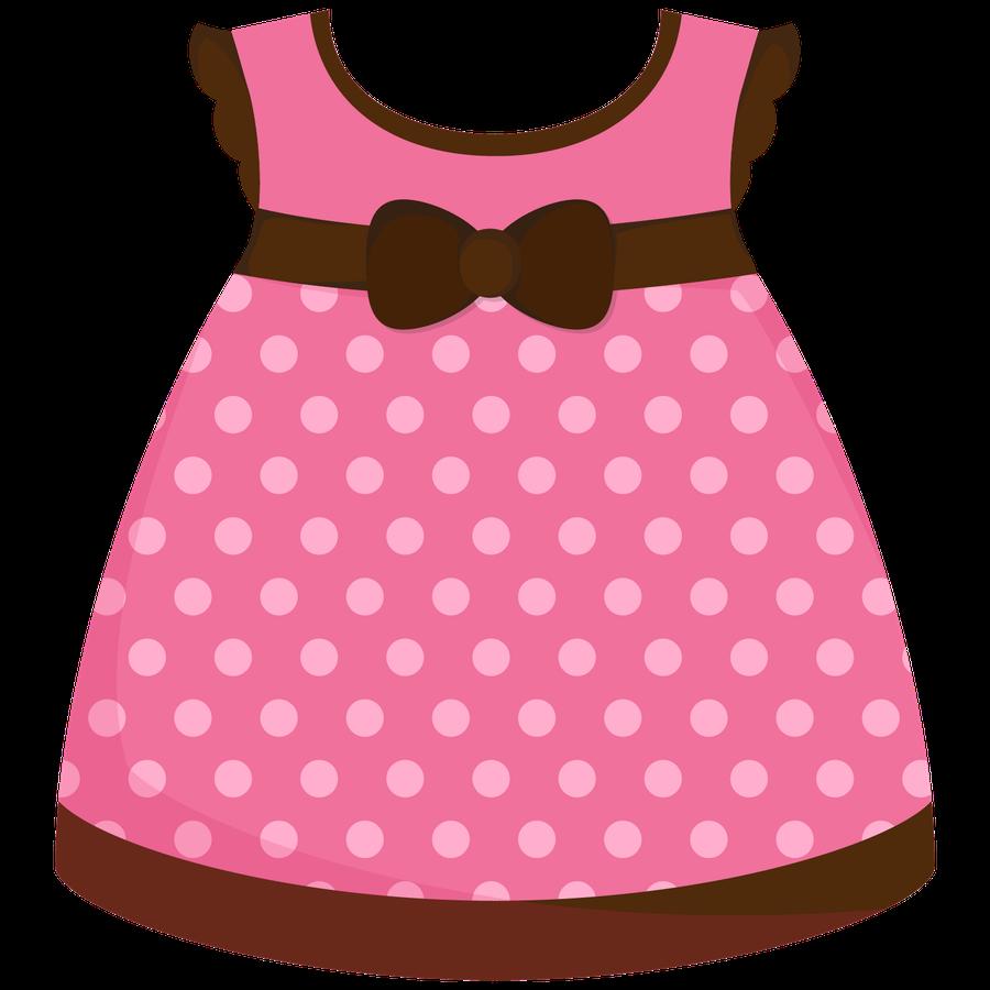 Baby Girl Dress Clipart.