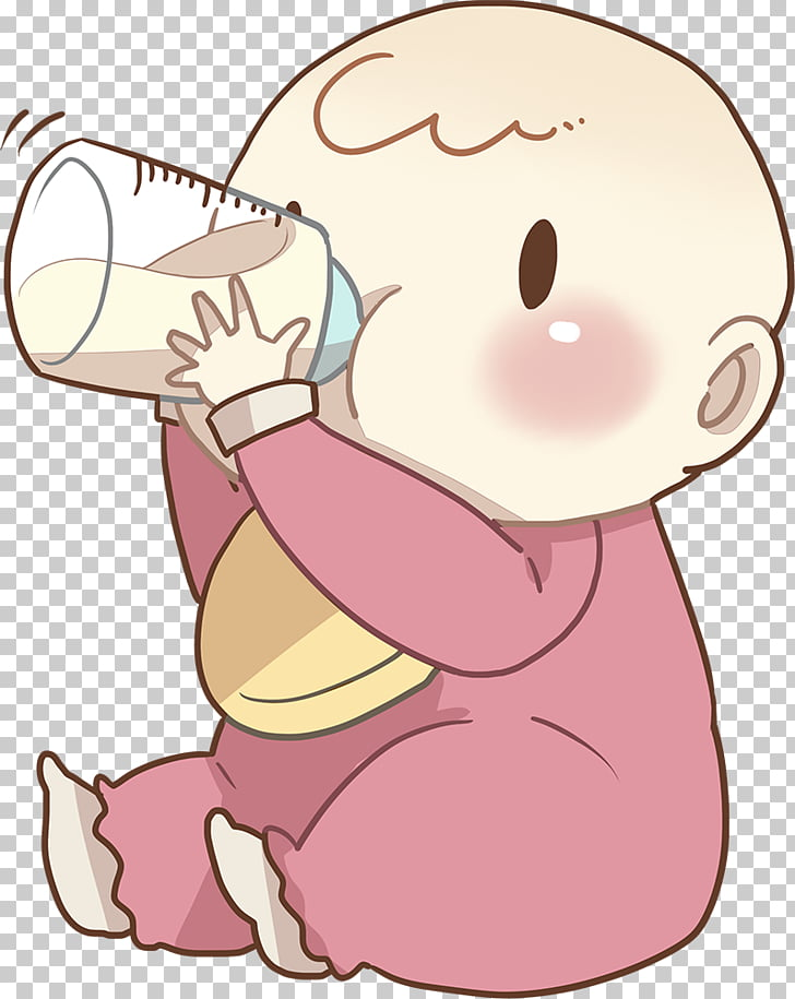 Chocolate milk Infant No Child, Cartoon baby mother material.