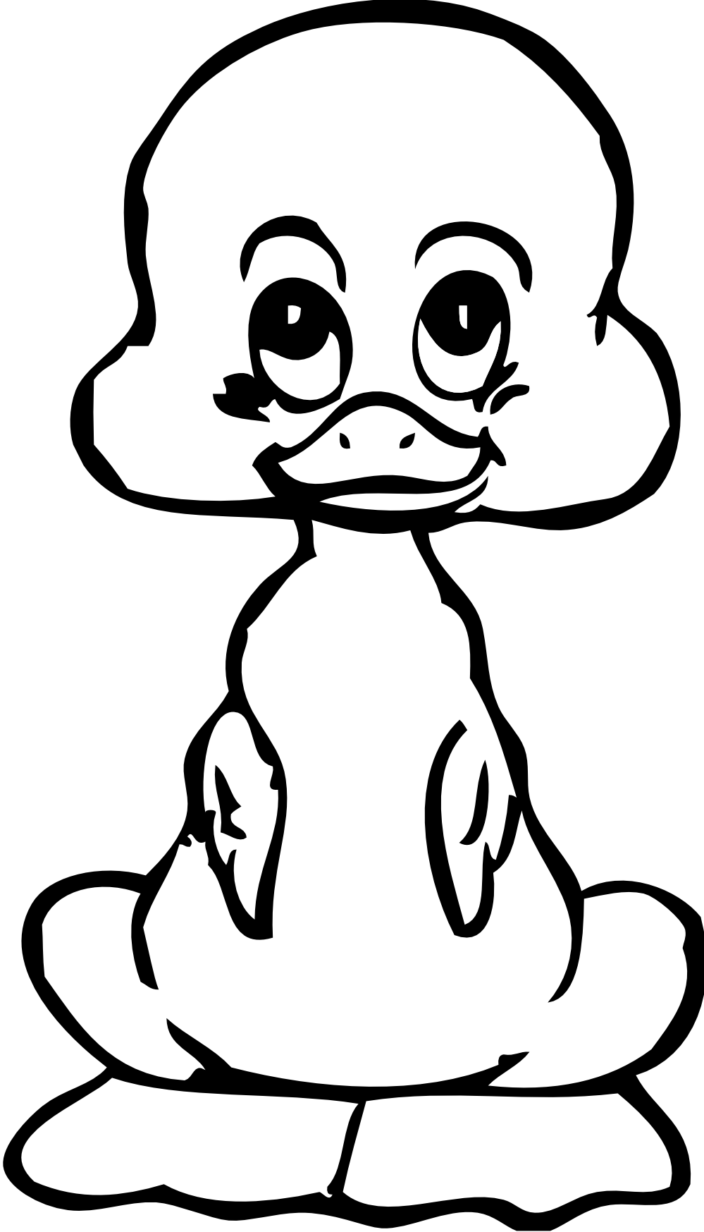 Free Black And White Duck Clipart, Download Free Clip Art.