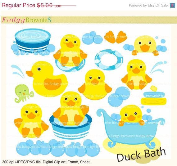 Duck clip art , Duck bath toy, for invites,scrapbooking.