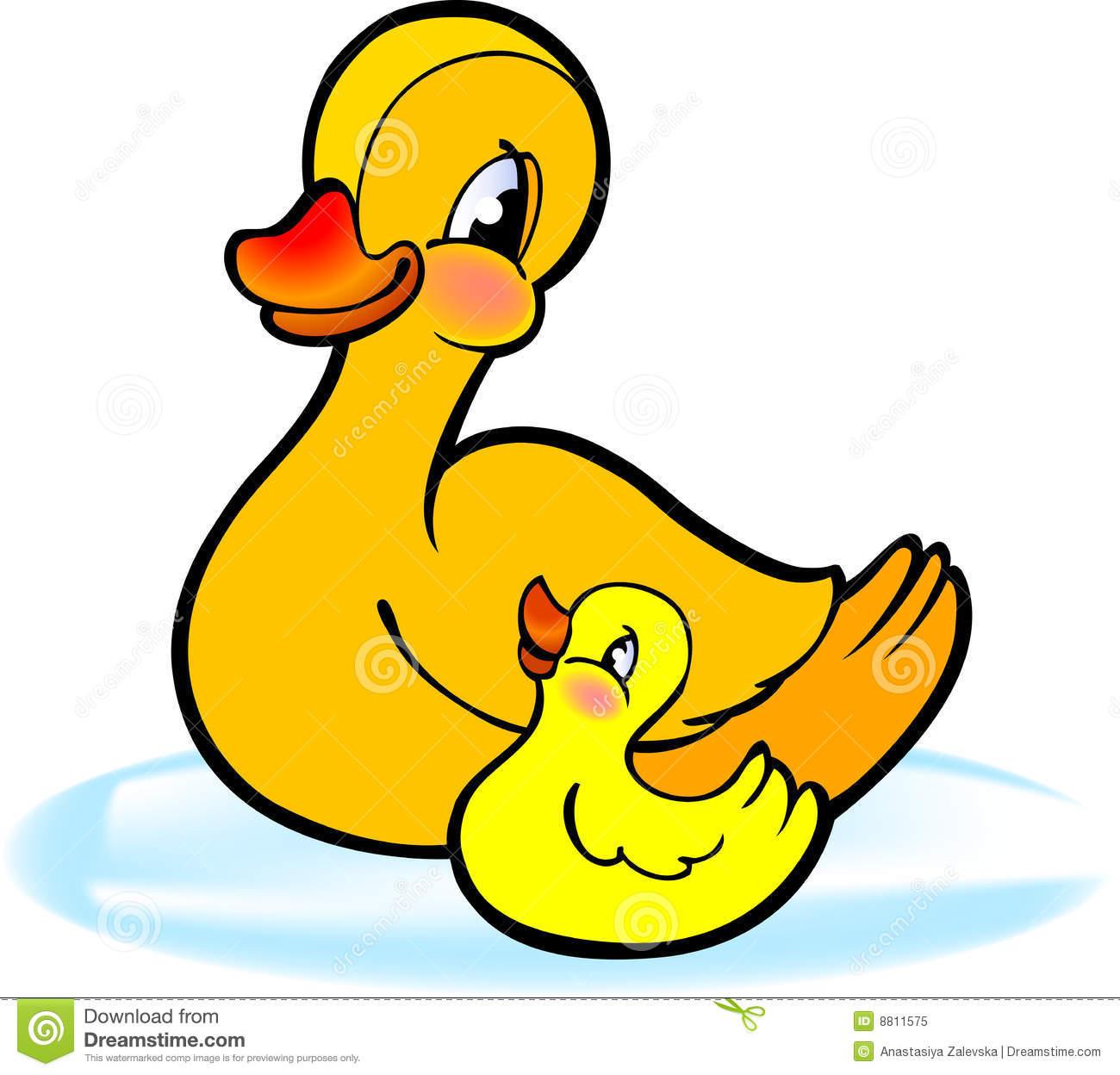 Mother duck clipart.