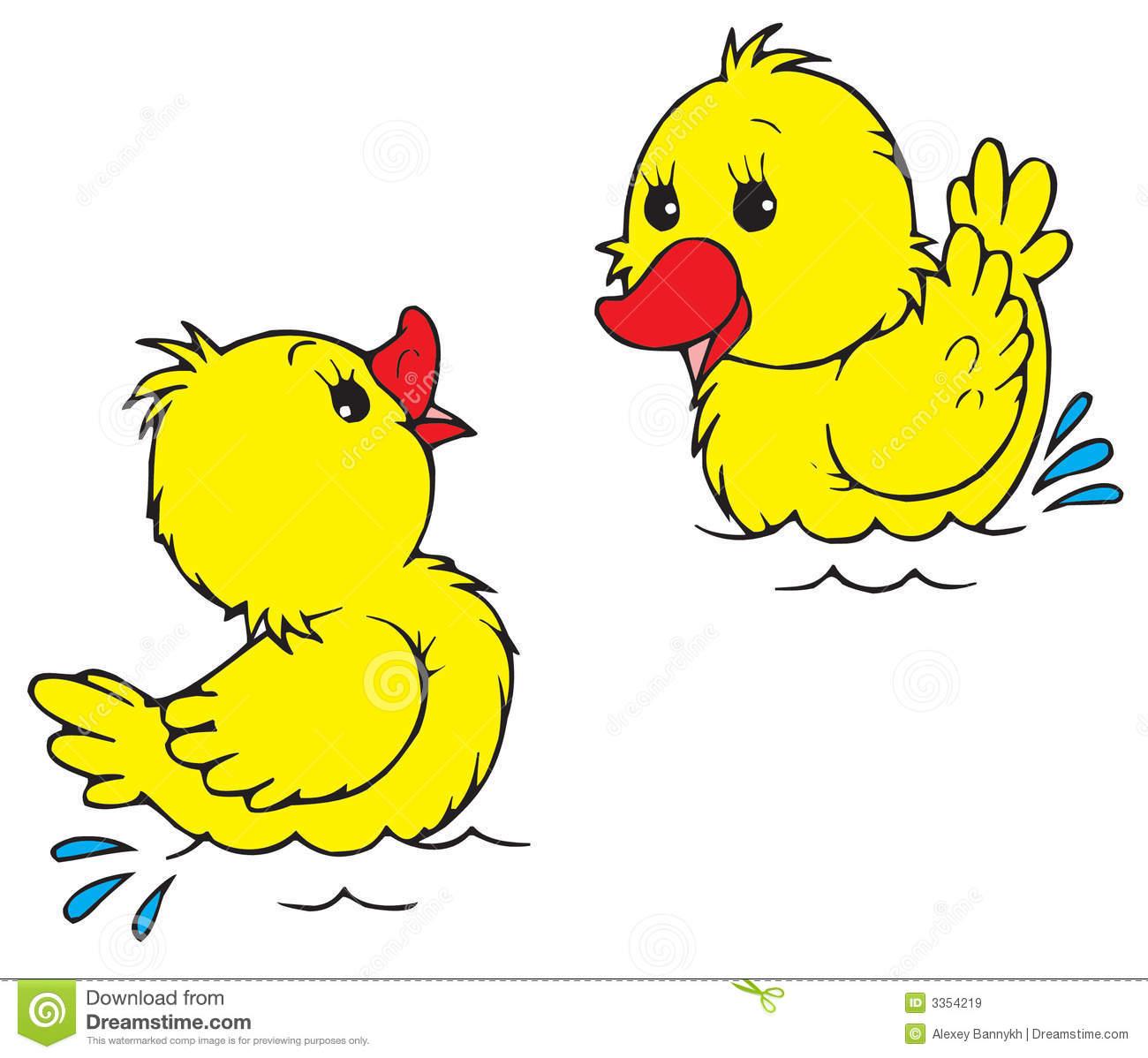 Duckling clip art.