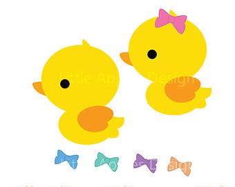 Cute Duckling Clipart.