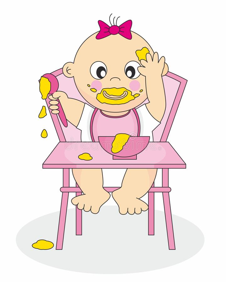 Baby Eating Stock Illustrations.