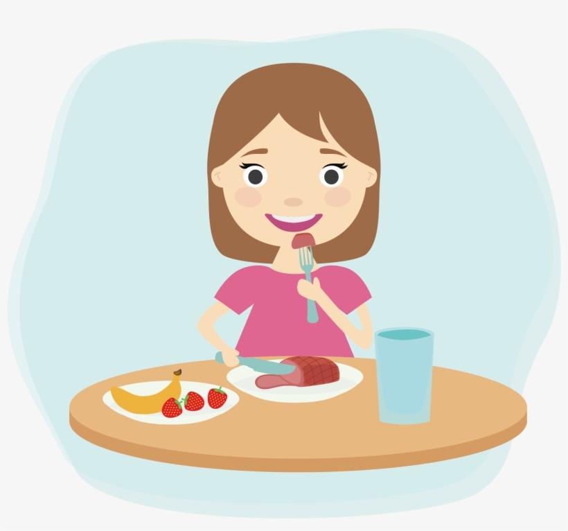Breakfast Eating Child Clip Art.