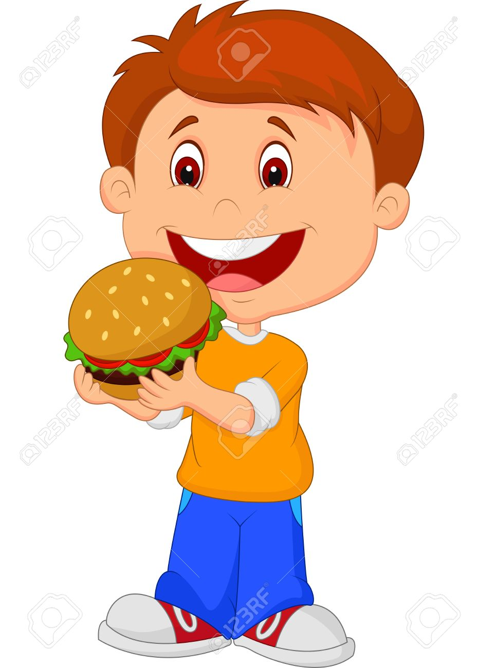 Eating Burger Clipart.