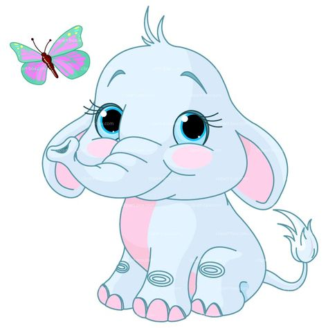 Displaying baby elephant clipart.