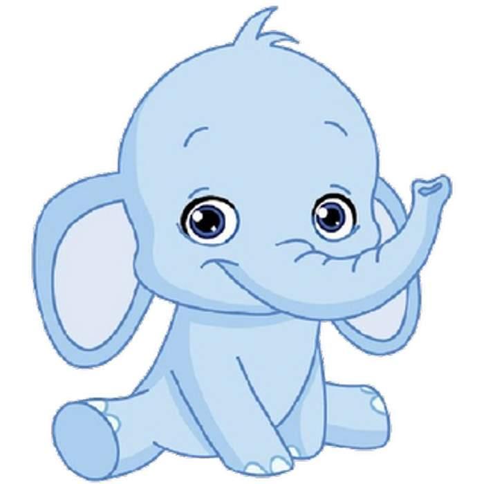 Elephant Clipart, Baby Elephant Free Clipart.