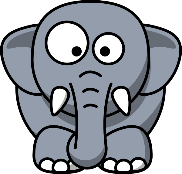 Baby Elephant Clipart Outline.