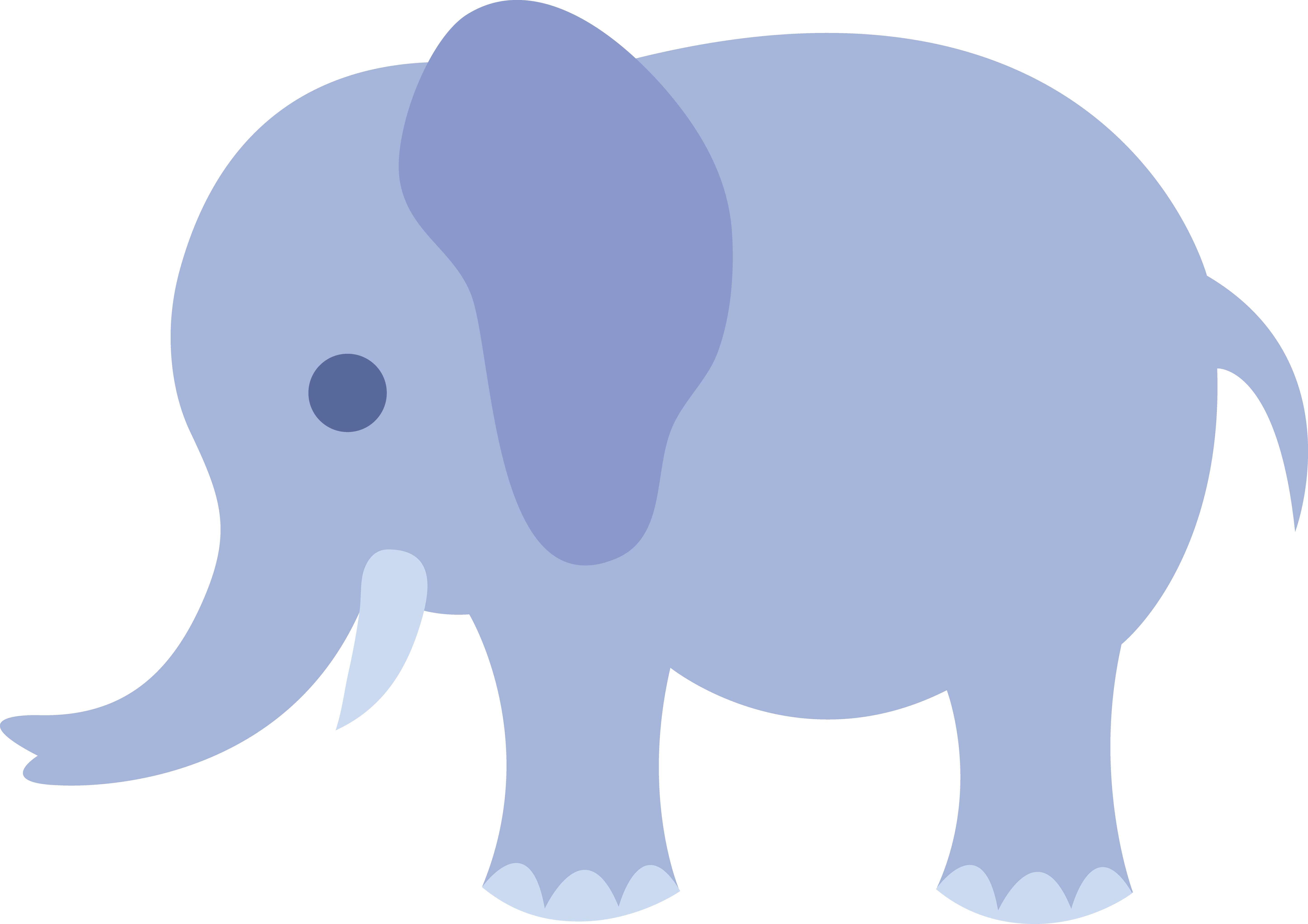 Free baby elephant clipart vector.