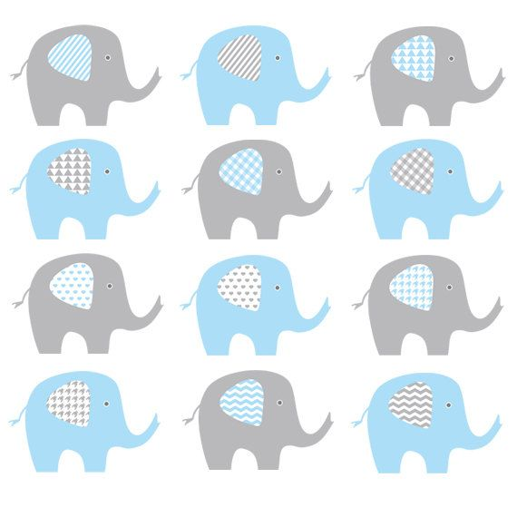ELEPHANT CLIP ART This elephant clip art in chevron, stripes.