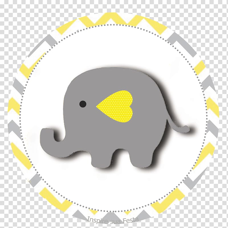 Gray elephant , Pink Yellow Color Party Baby shower, baby.
