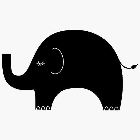 Elephant Clipart Silhouette.
