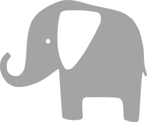 Free Baby Elephant Silhouette, Download Free Clip Art, Free.