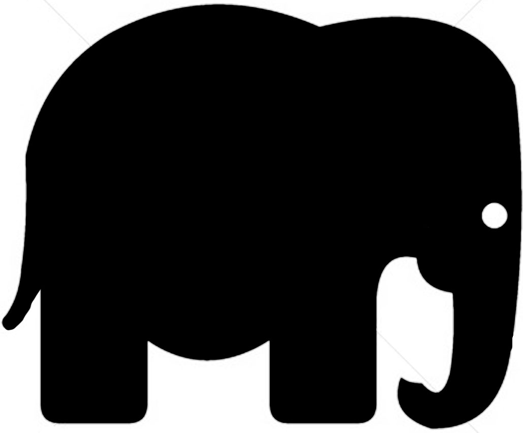 Free Elephant Cliparts Silhouette, Download Free Clip Art.