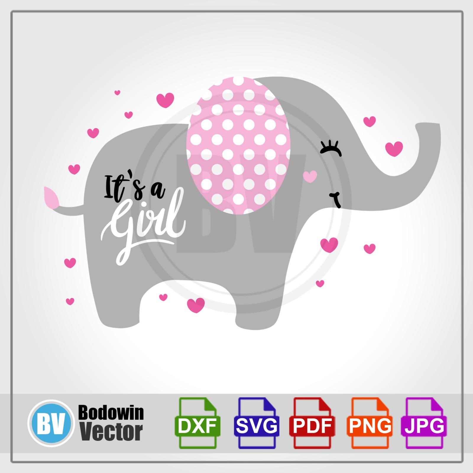 Baby Elephant SVG / Instant Download / Digital Clipart.