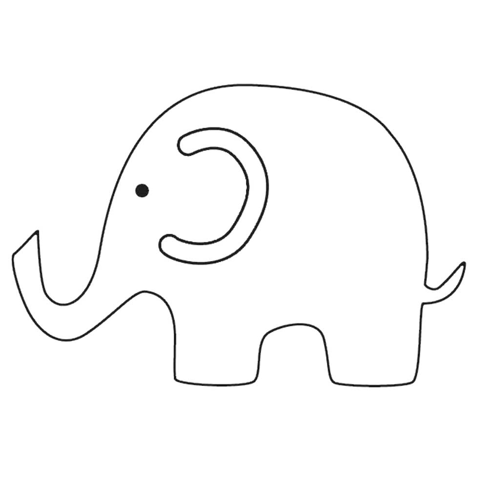 free printable elephant template.