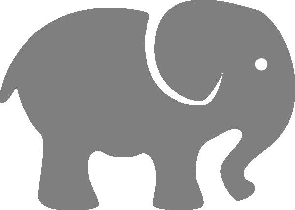 Baby Elephant Stencil.
