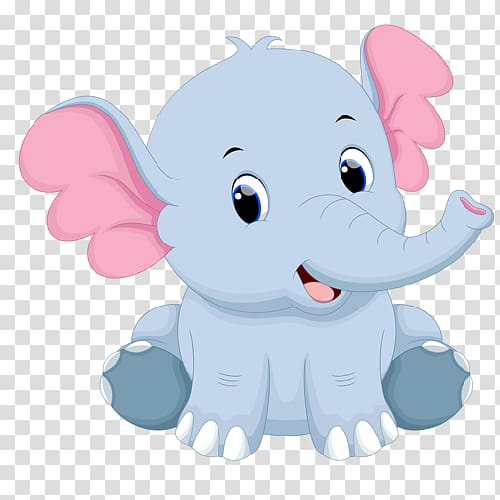 Elephantidae, baby elephant transparent background PNG.