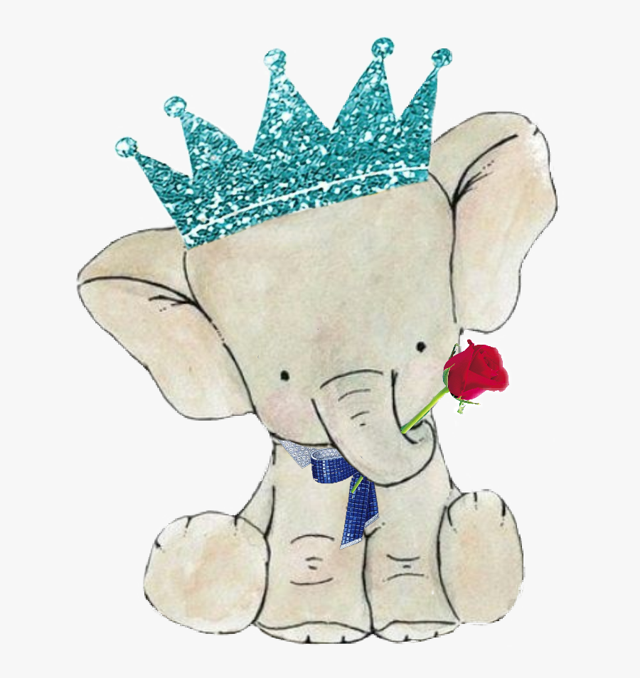 elephant #family #bow #boy #crown #glitter #flower.
