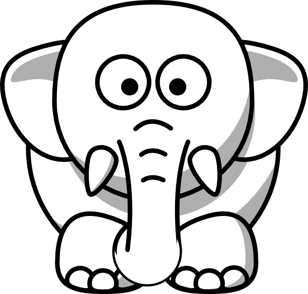 Free Elephant Head Clipart Image.