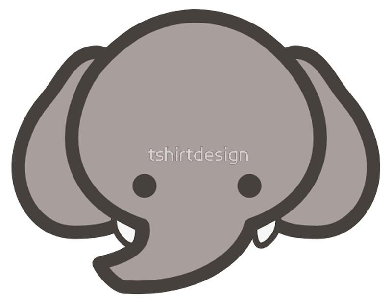 Cute Baby Elephant Head/Face