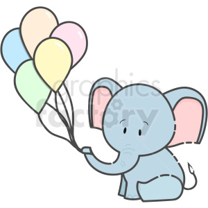 Baby Elephant vector clipart . Royalty.