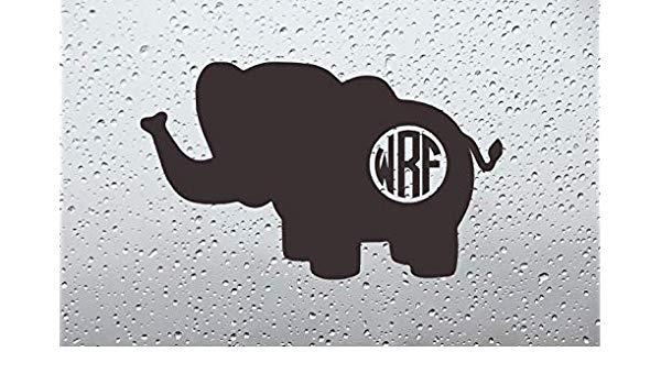 Amazon.com: Stebears Decals Baby Elephant Monogram Car Decal.