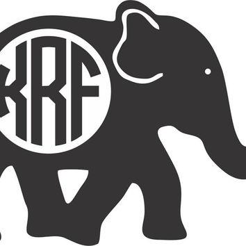 Best Elephant Monogram Decal Products on Wanelo.