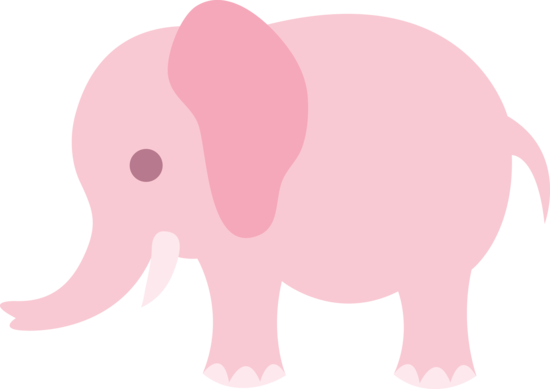 Little Pink Elephant Clip Art.