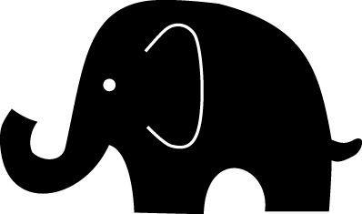 Cute Elephant Silhouette at GetDrawings.com.