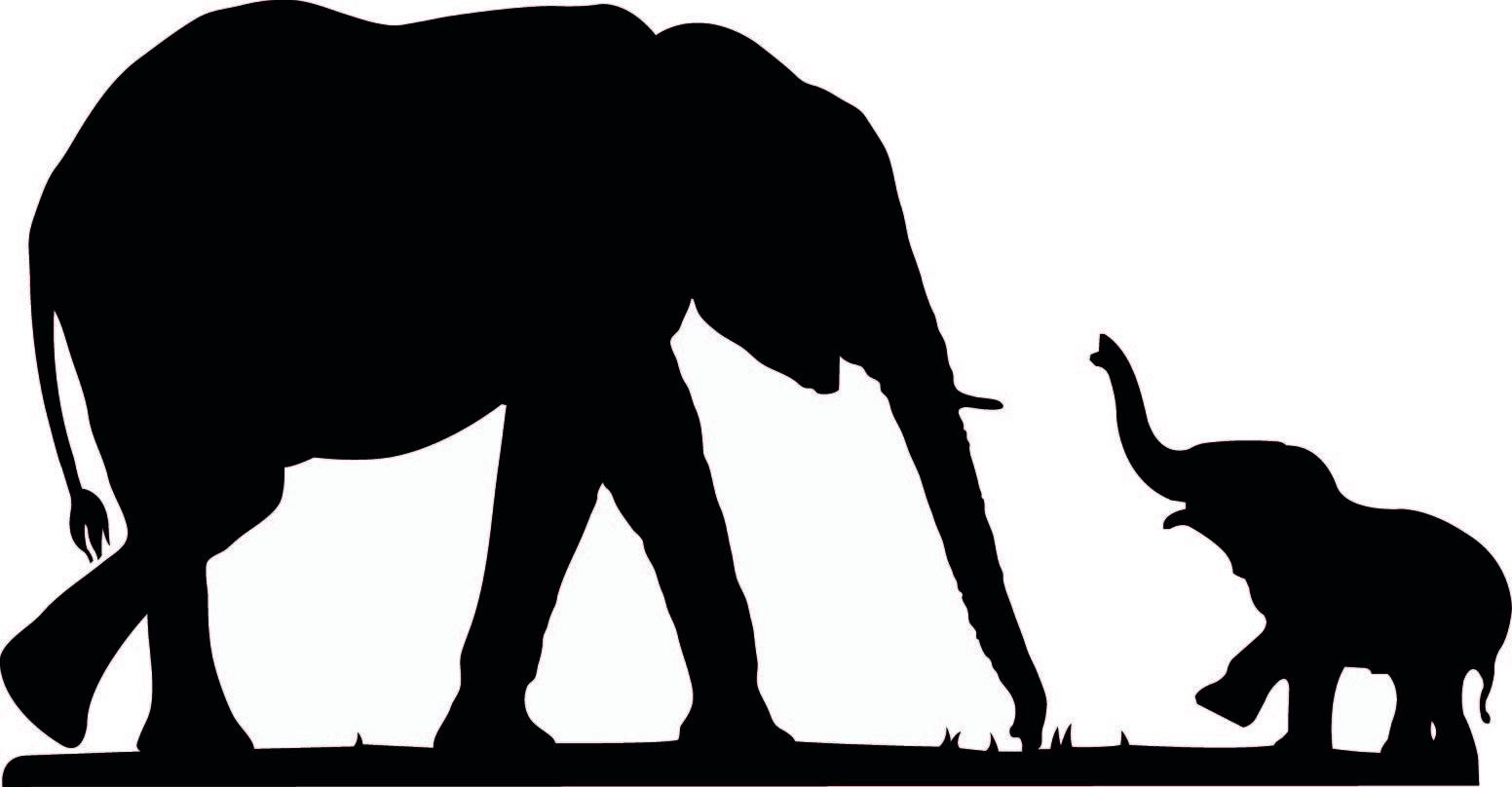 Cute Elephant Silhouette.