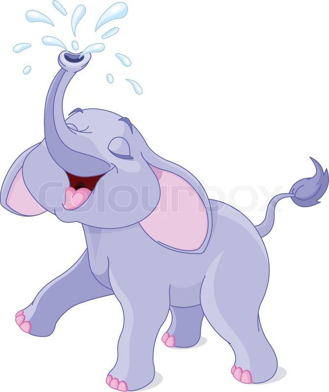 16709 Elephant free clipart.