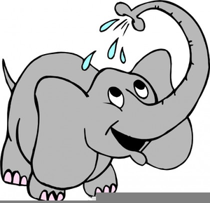 Elephant Water Clipart.