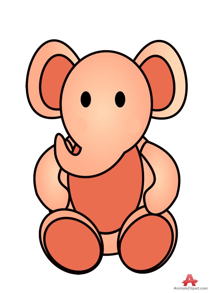 Little Elephant Teddy Toy Clipart.