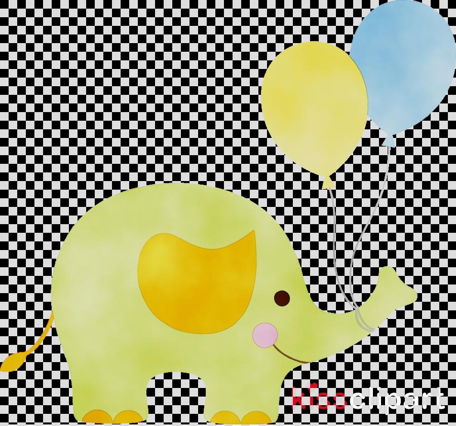 Baby Elephant Cartoon clipart.