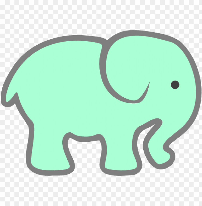 how to set use green baby elephant PNG image with.