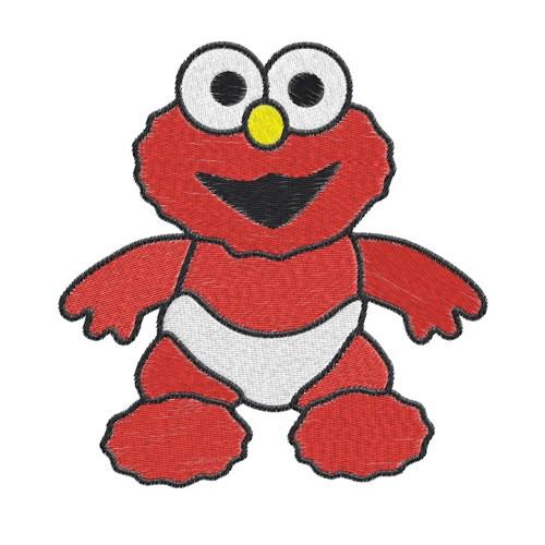 Baby Elmo Clip Art.