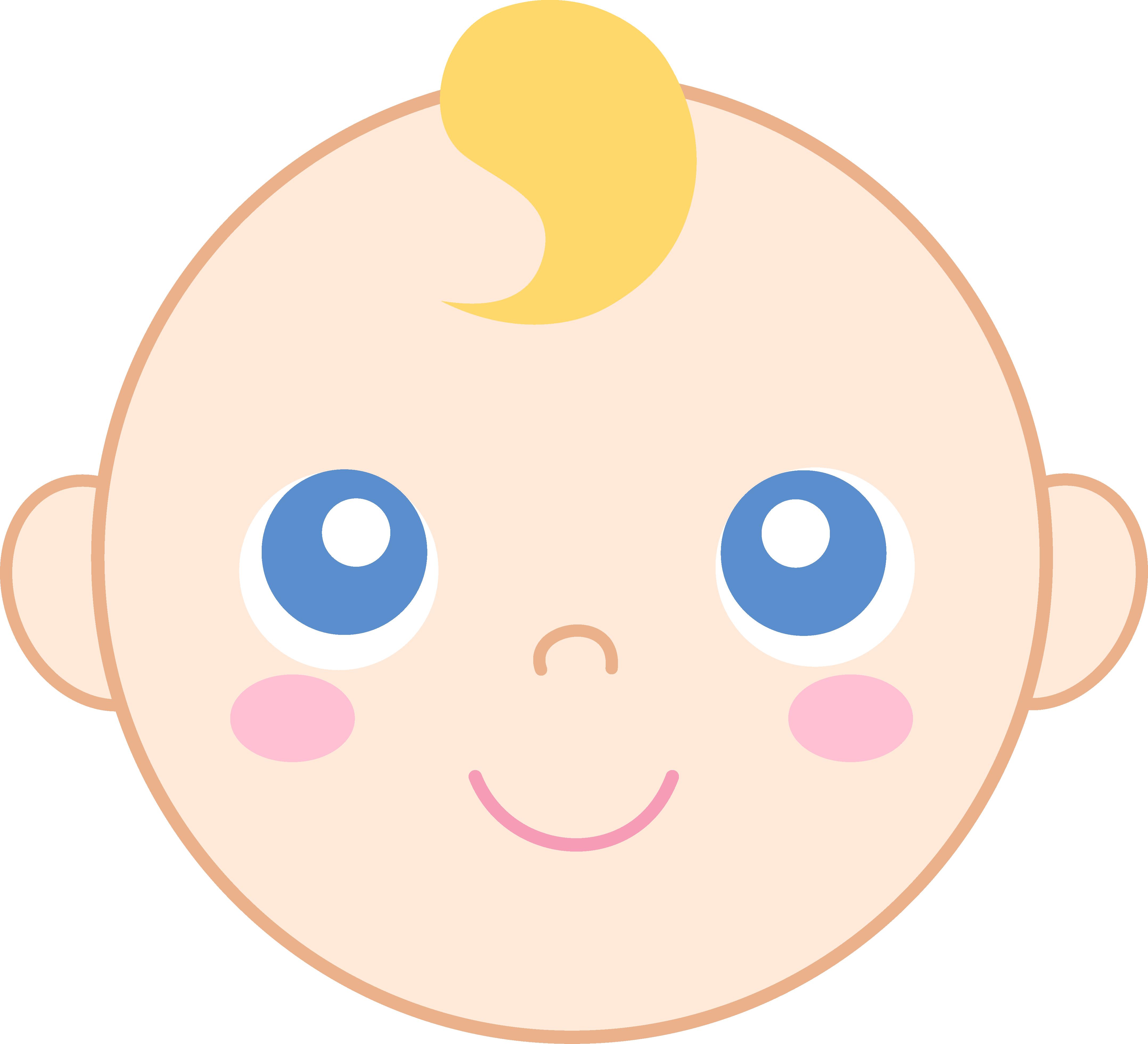 Cute Baby Face Clipart.
