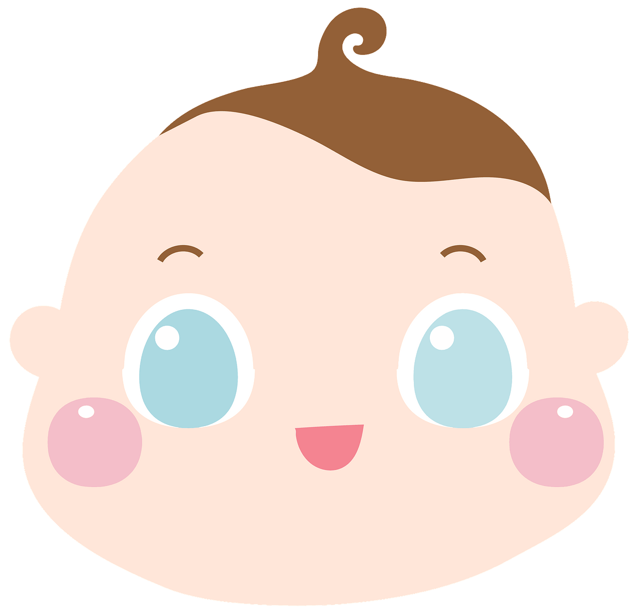 Baby Face clipart. Free download..