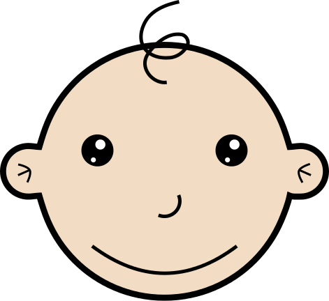 baby smiling.