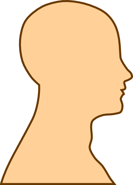 Side View Face Silhouette Clip Art.