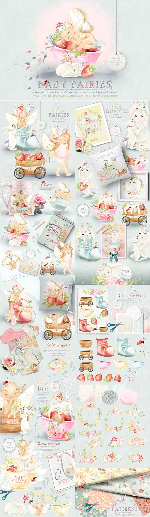 Download Baby Fairies Clipart Collection 2770171.